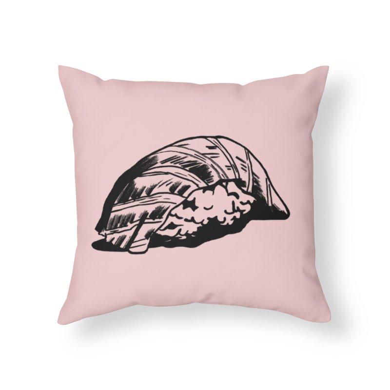 Sushi Home Throw Pillow by Donal Mangan's Artist Shop