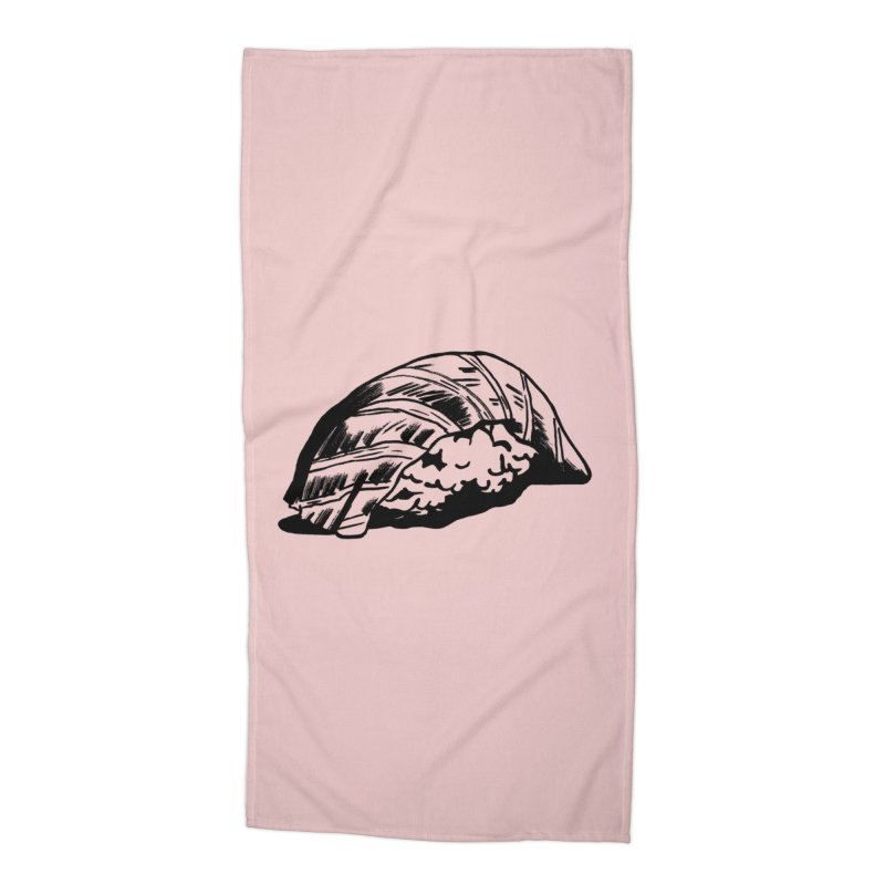 Sushi Accessories Beach Towel by Donal Mangan's Artist Shop