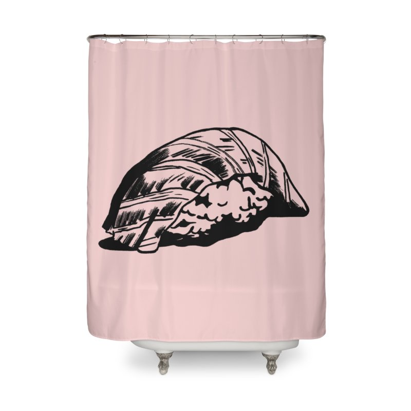 Sushi Home Shower Curtain by Donal Mangan's Artist Shop