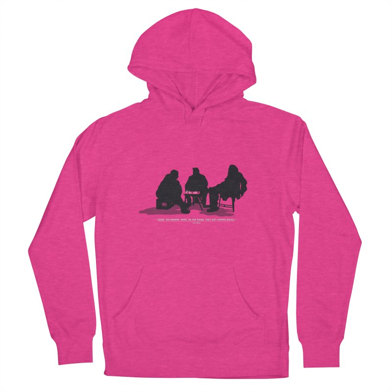 Checkers On A Chess Set Women's French Terry Pullover Hoody by Donal Mangan's Artist Shop