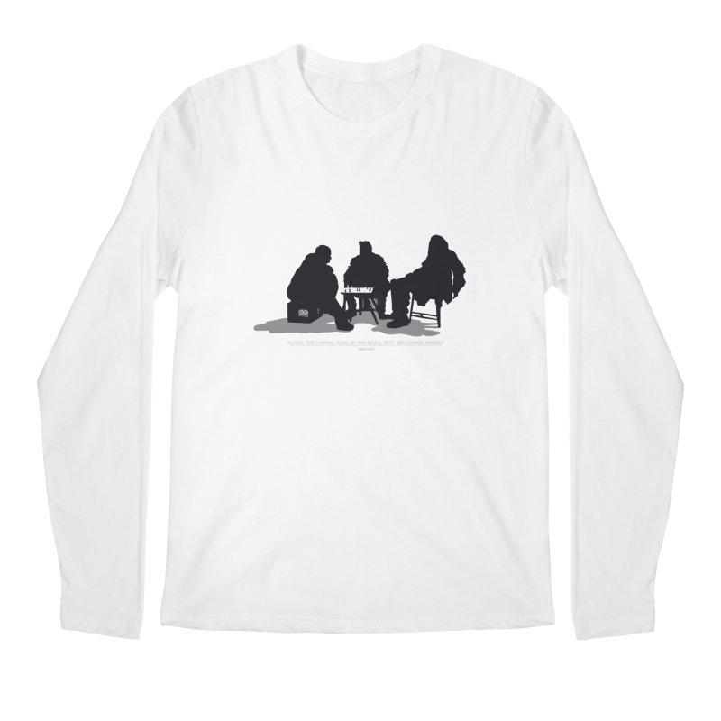 Checkers On A Chess Set Men's Longsleeve T-Shirt by Donal Mangan's Artist Shop