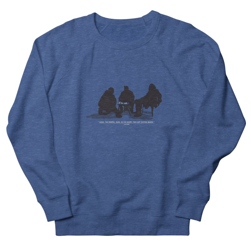 Checkers On A Chess Set Women's French Terry Sweatshirt by Donal Mangan's Artist Shop