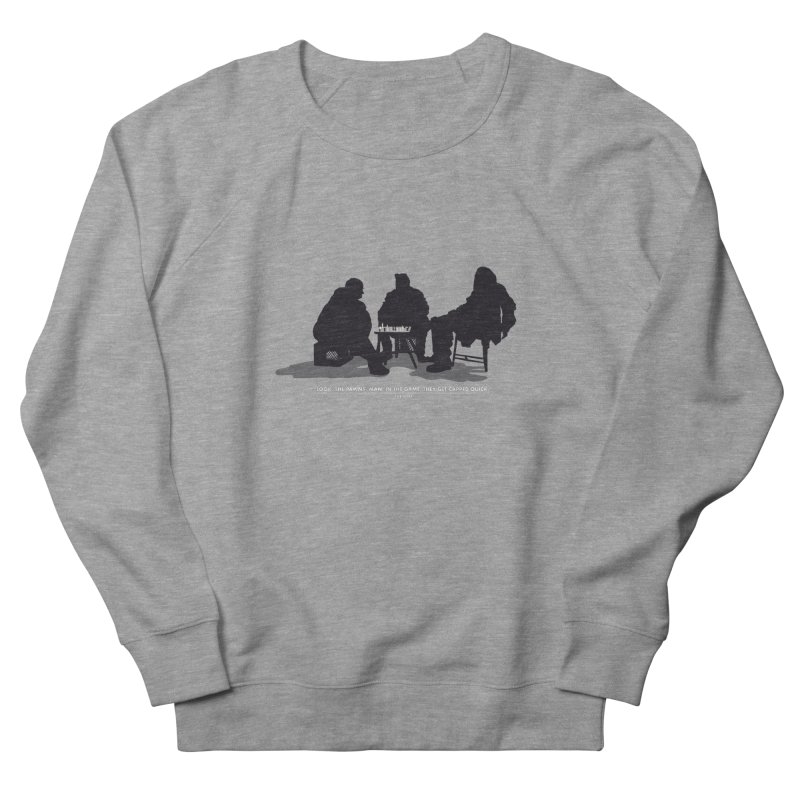 Checkers On A Chess Set Men's French Terry Sweatshirt by Donal Mangan's Artist Shop