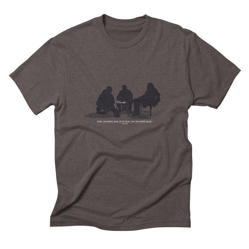 Checkers On A Chess Set Men's Triblend T-Shirt by Donal Mangan's Artist Shop