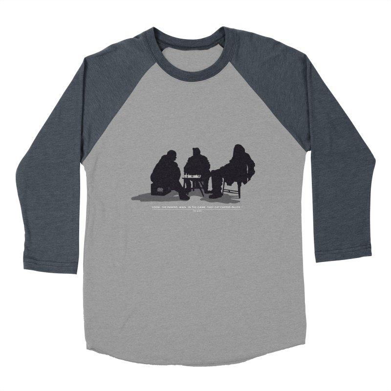 Checkers On A Chess Set Women's Baseball Triblend T-Shirt by Donal Mangan's Artist Shop
