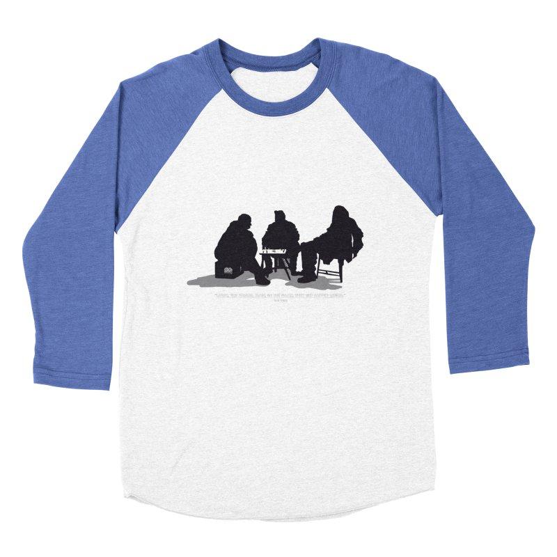 Checkers On A Chess Set Men's Baseball Triblend T-Shirt by Donal Mangan's Artist Shop