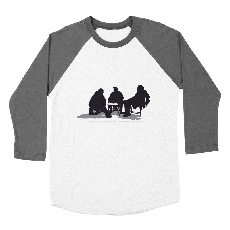 Checkers On A Chess Set Men's Baseball Triblend Longsleeve T-Shirt by Donal Mangan's Artist Shop