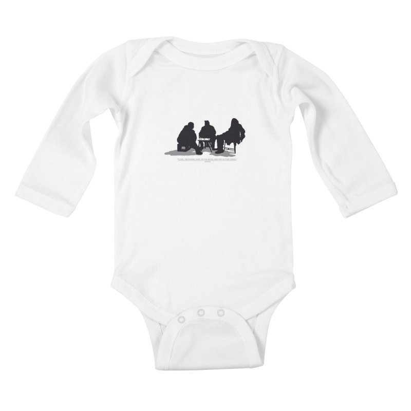 Checkers On A Chess Set Kids Baby Longsleeve Bodysuit by Donal Mangan's Artist Shop