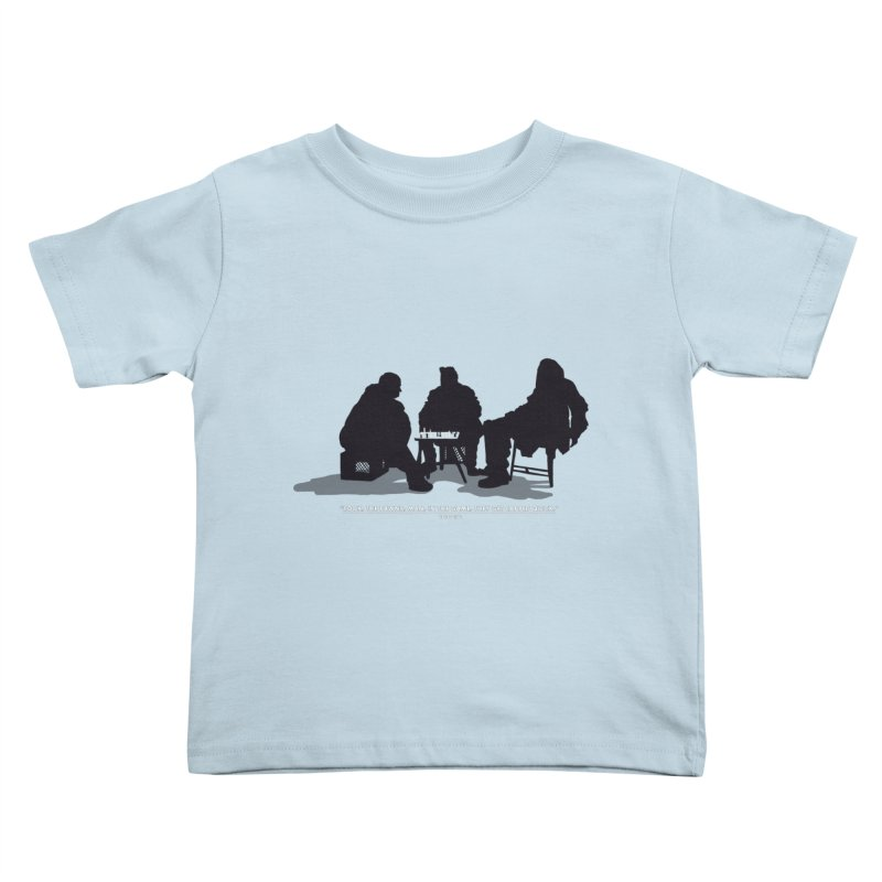 Checkers On A Chess Set Kids Toddler T-Shirt by Donal Mangan's Artist Shop
