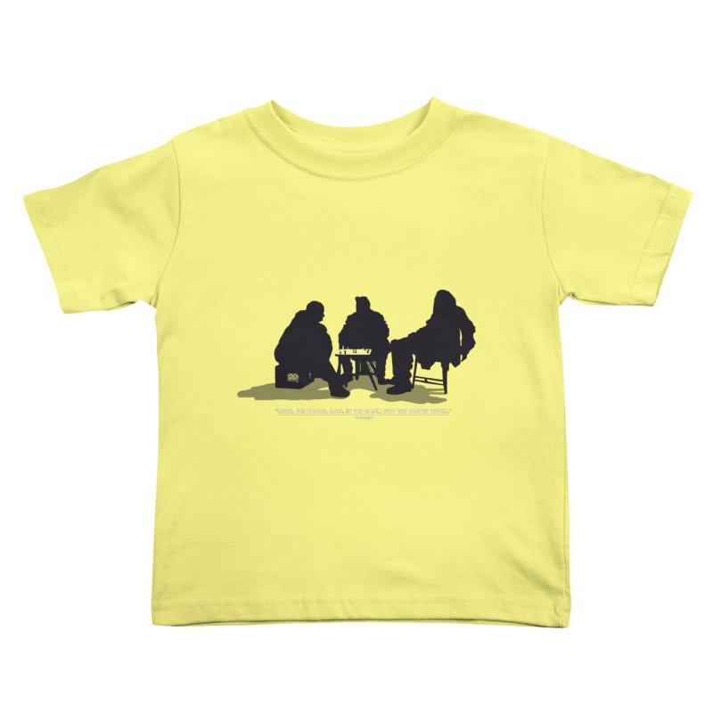 Checkers On A Chess Set Kids Toddler T-Shirt by Donal Mangan's Artist Shop