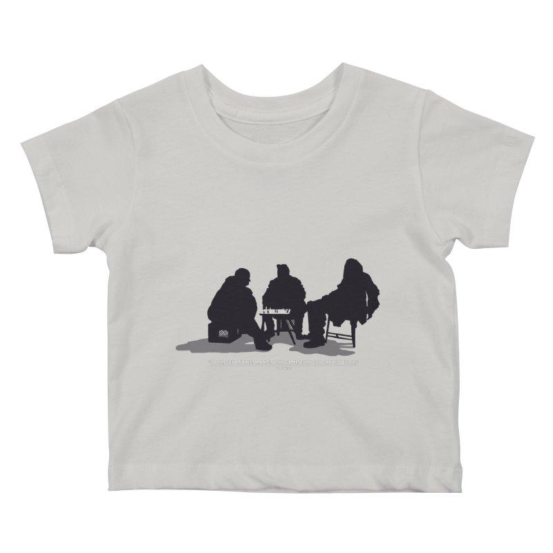 Checkers On A Chess Set Kids Baby T-Shirt by Donal Mangan's Artist Shop