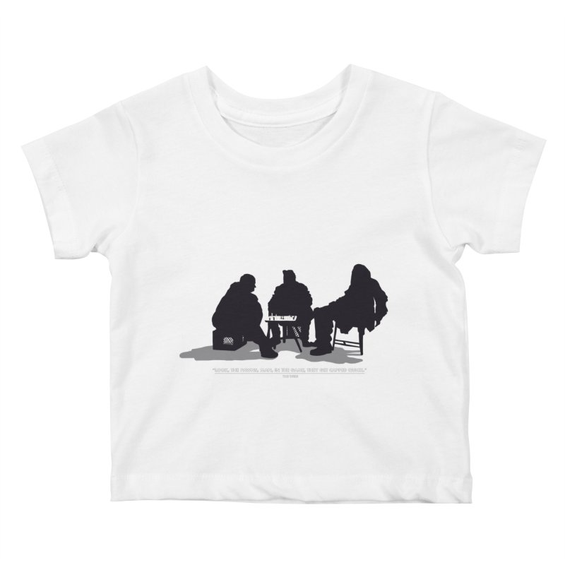 Checkers On A Chess Set Kids Baby T-Shirt by Donal Mangan's Artist Shop