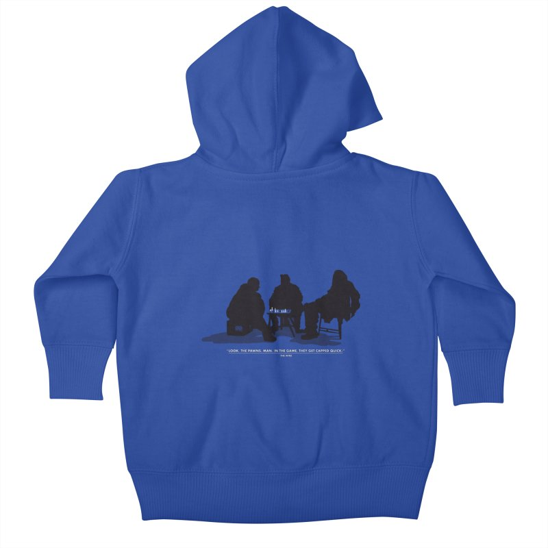 Checkers On A Chess Set Kids Baby Zip-Up Hoody by Donal Mangan's Artist Shop