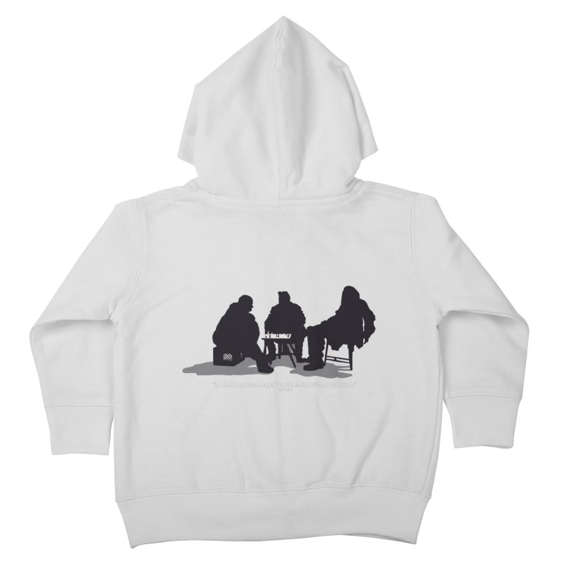 Checkers On A Chess Set Kids Toddler Zip-Up Hoody by Donal Mangan's Artist Shop