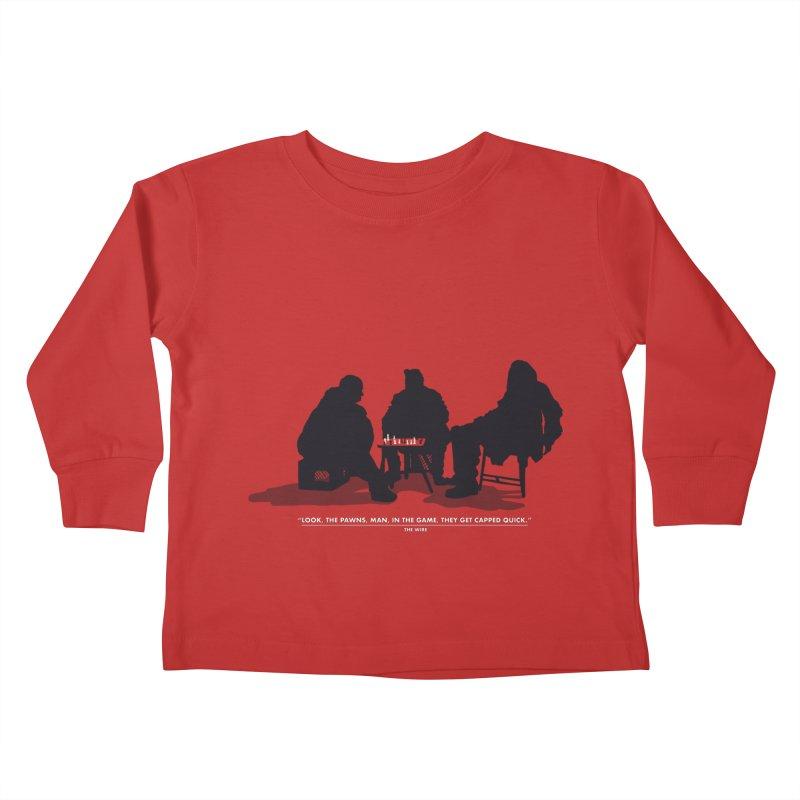 Checkers On A Chess Set Kids Toddler Longsleeve T-Shirt by Donal Mangan's Artist Shop