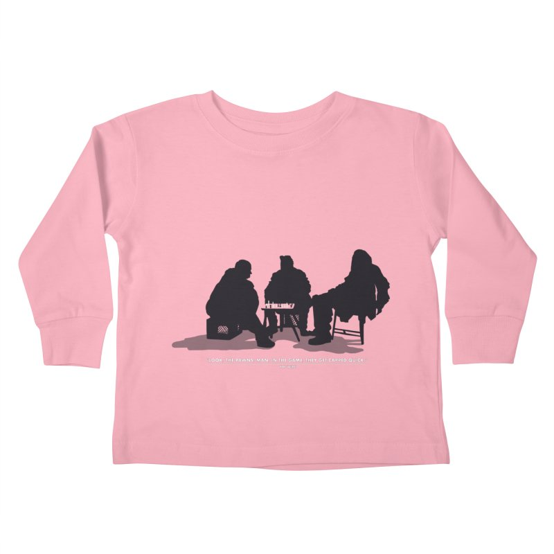 Checkers On A Chess Set Kids Toddler Longsleeve T-Shirt by Donal Mangan's Artist Shop