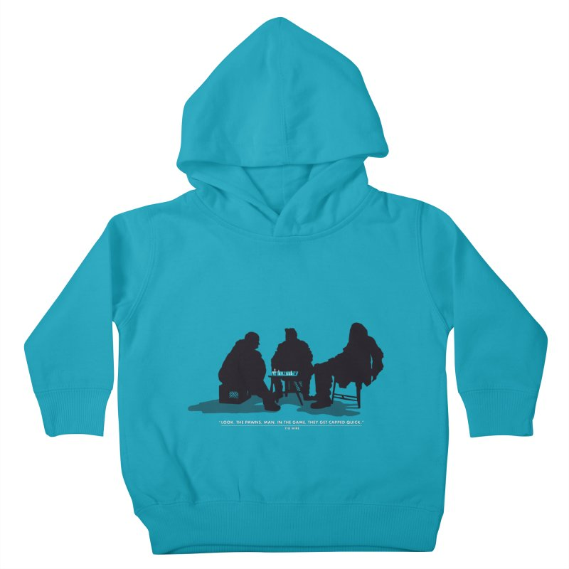 Checkers On A Chess Set Kids Toddler Pullover Hoody by Donal Mangan's Artist Shop