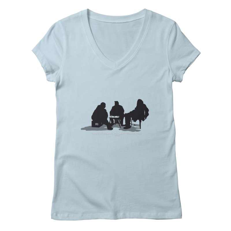 Checkers On A Chess Set Women's V-Neck by Donal Mangan's Artist Shop