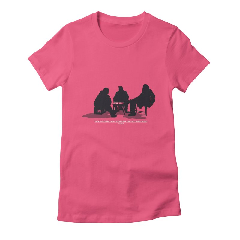 Checkers On A Chess Set Women's Fitted T-Shirt by Donal Mangan's Artist Shop
