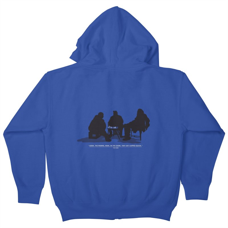 Checkers On A Chess Set Kids Zip-Up Hoody by Donal Mangan's Artist Shop