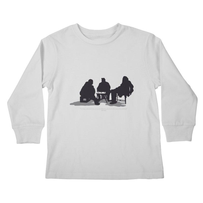 Checkers On A Chess Set Kids Longsleeve T-Shirt by Donal Mangan's Artist Shop