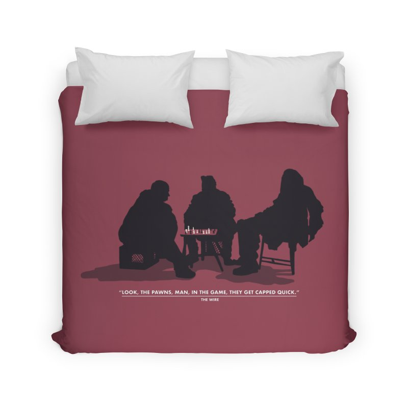 Checkers On A Chess Set Home Duvet by Donal Mangan's Artist Shop