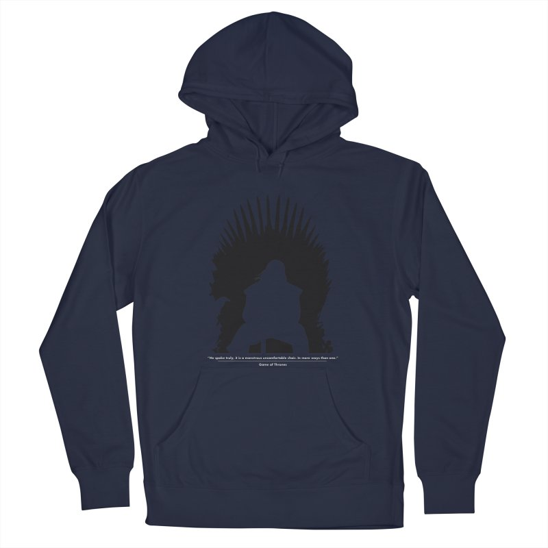 The Iron Throne Women's French Terry Pullover Hoody by Donal Mangan's Artist Shop