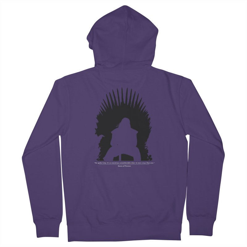 The Iron Throne Women's Zip-Up Hoody by Donal Mangan's Artist Shop