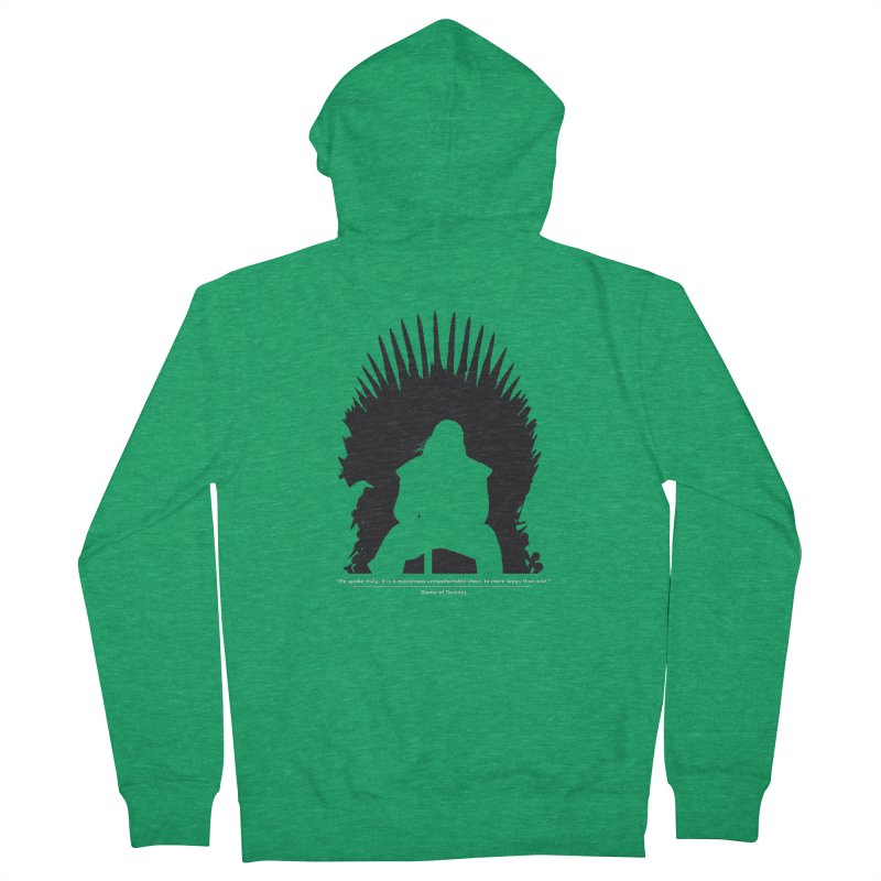 The Iron Throne Men's Zip-Up Hoody by Donal Mangan's Artist Shop