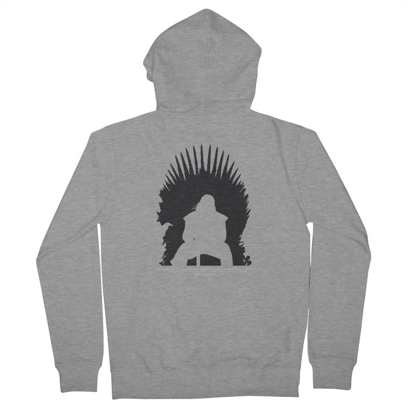 The Iron Throne Men's French Terry Zip-Up Hoody by Donal Mangan's Artist Shop