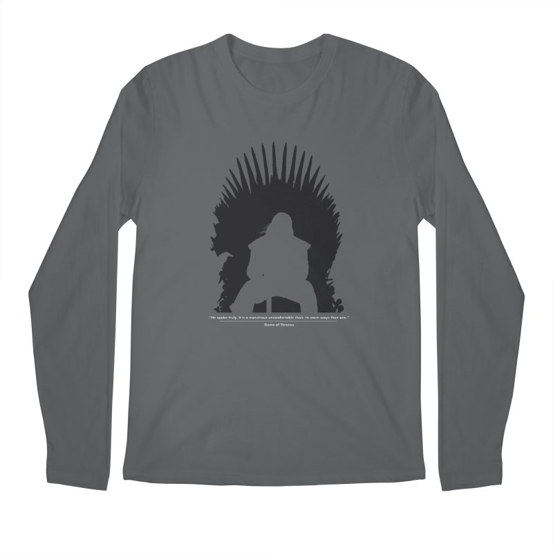 The Iron Throne Men's Regular Longsleeve T-Shirt by Donal Mangan's Artist Shop