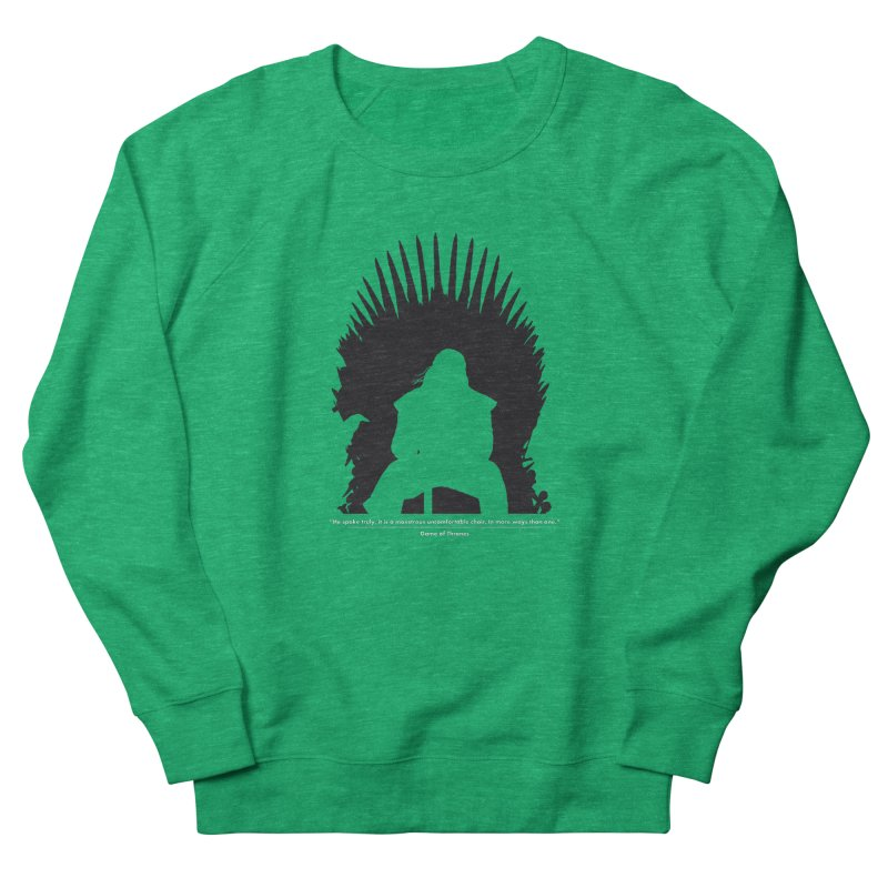 The Iron Throne Men's French Terry Sweatshirt by Donal Mangan's Artist Shop
