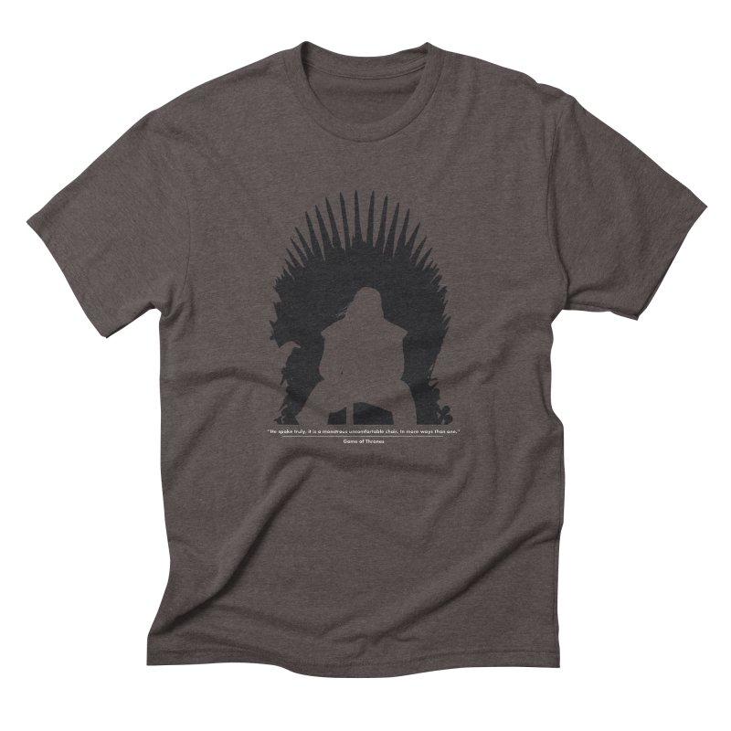 The Iron Throne Men's Triblend T-shirt by Donal Mangan's Artist Shop