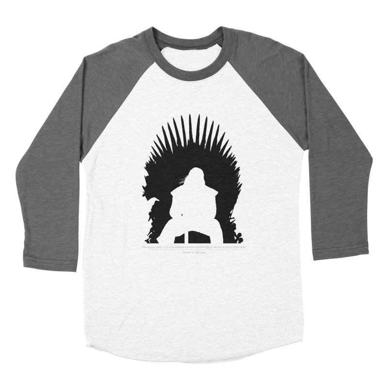 The Iron Throne Men's Baseball Triblend Longsleeve T-Shirt by Donal Mangan's Artist Shop