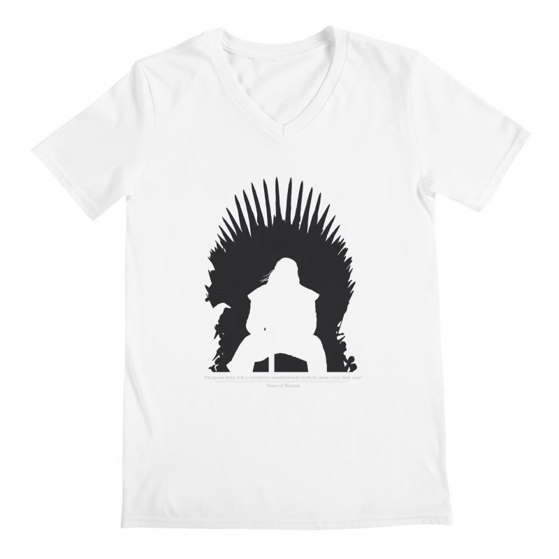 The Iron Throne Men's V-Neck by Donal Mangan's Artist Shop