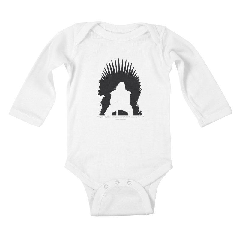 The Iron Throne Kids Baby Longsleeve Bodysuit by Donal Mangan's Artist Shop