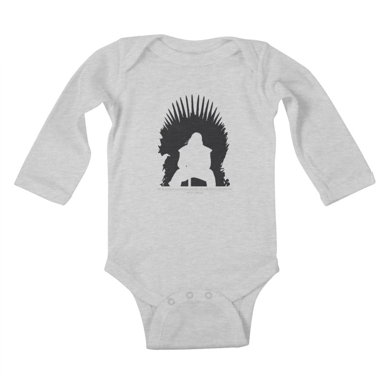 The Iron Throne Kids Baby Longsleeve Bodysuit by Donal Mangan's Artist Shop