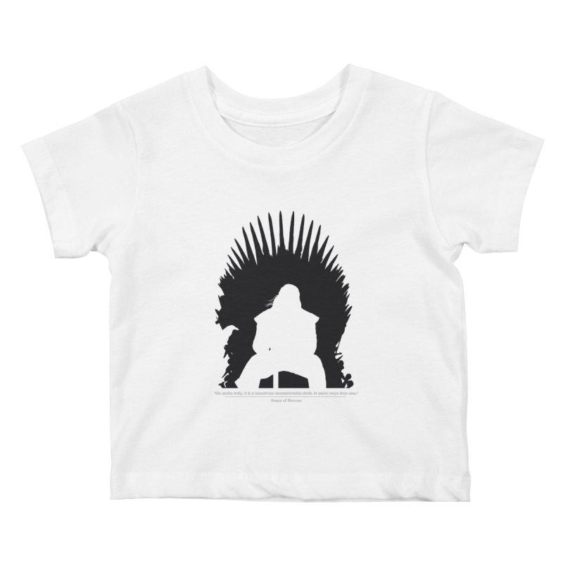 The Iron Throne Kids Baby T-Shirt by Donal Mangan's Artist Shop