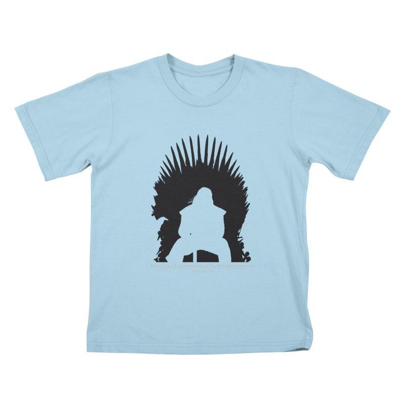The Iron Throne Kids T-Shirt by Donal Mangan's Artist Shop