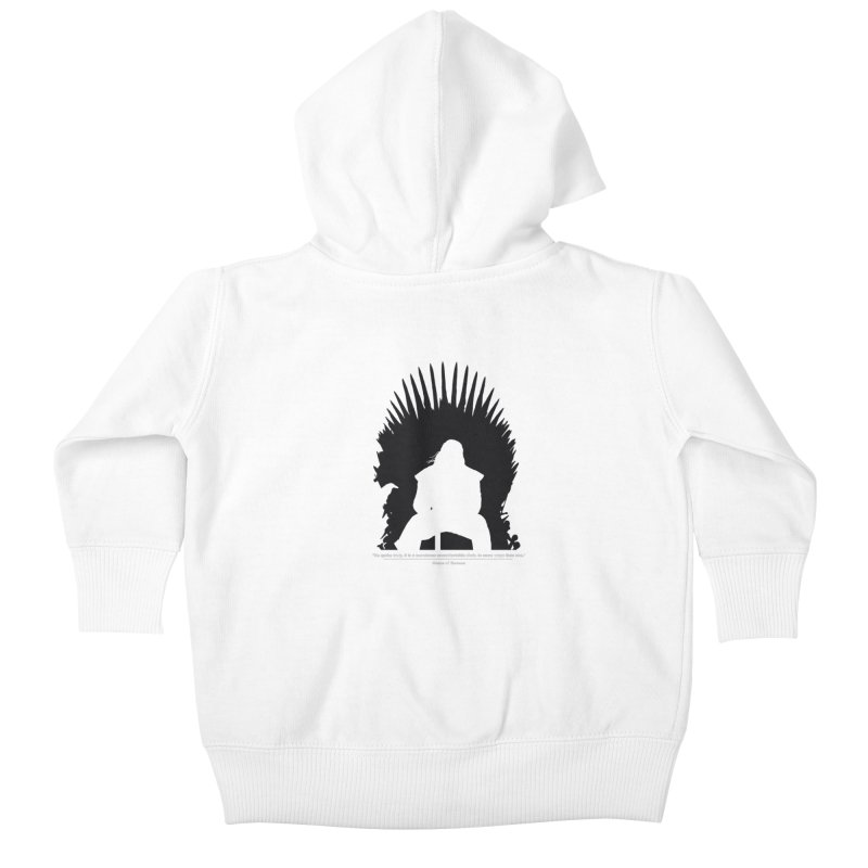 The Iron Throne Kids Baby Zip-Up Hoody by Donal Mangan's Artist Shop