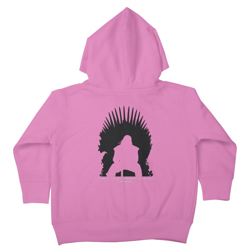 The Iron Throne Kids Toddler Zip-Up Hoody by Donal Mangan's Artist Shop