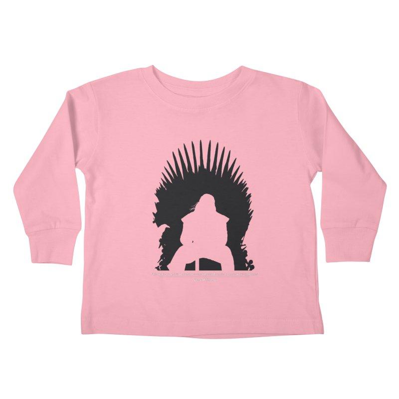The Iron Throne Kids Toddler Longsleeve T-Shirt by Donal Mangan's Artist Shop