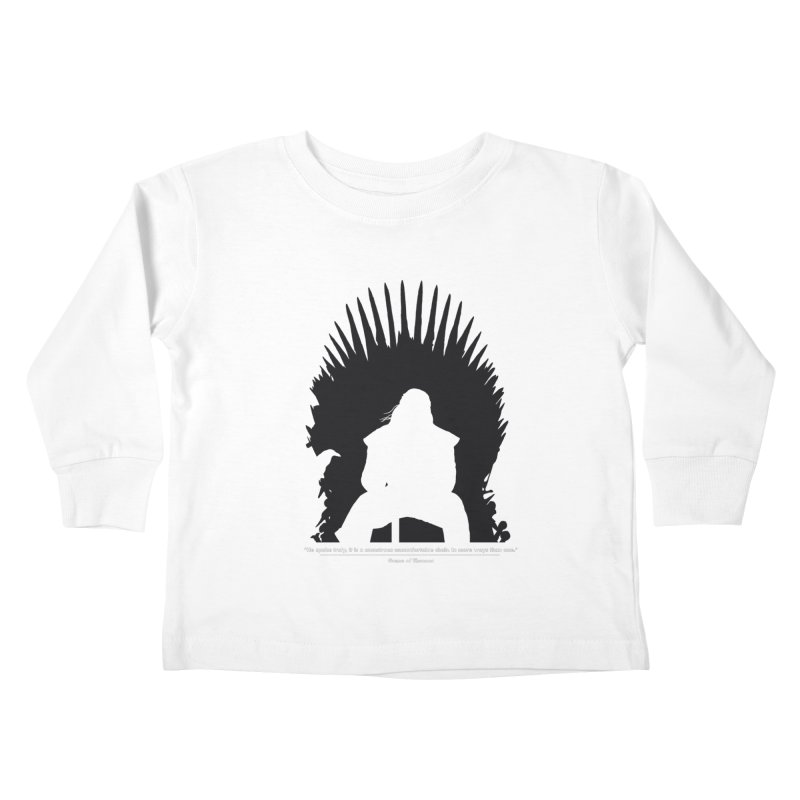 The Iron Throne Kids Toddler Longsleeve T-Shirt by Donal Mangan's Artist Shop