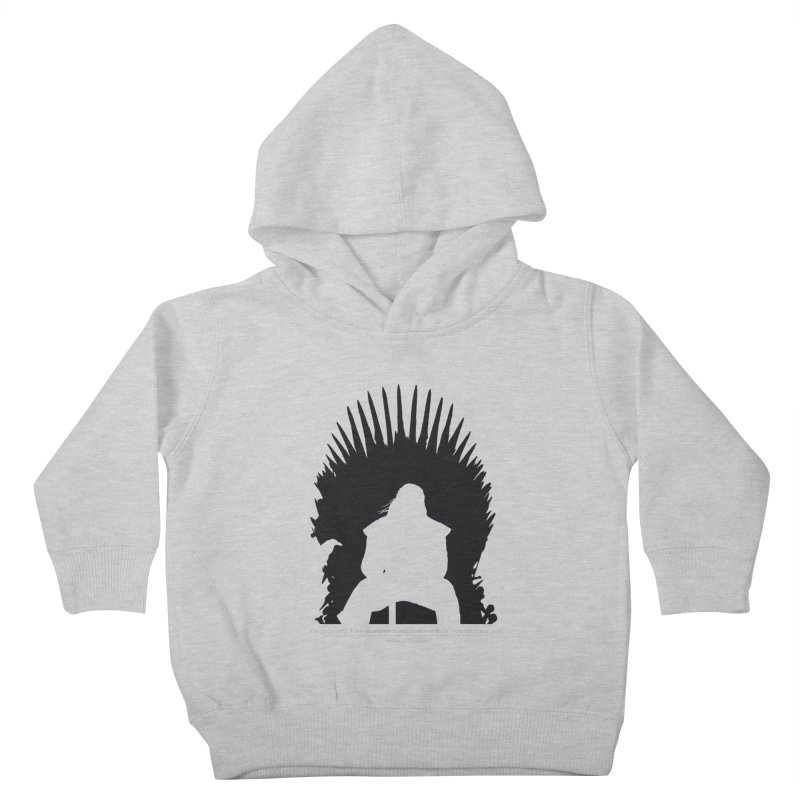 The Iron Throne Kids Toddler Pullover Hoody by Donal Mangan's Artist Shop