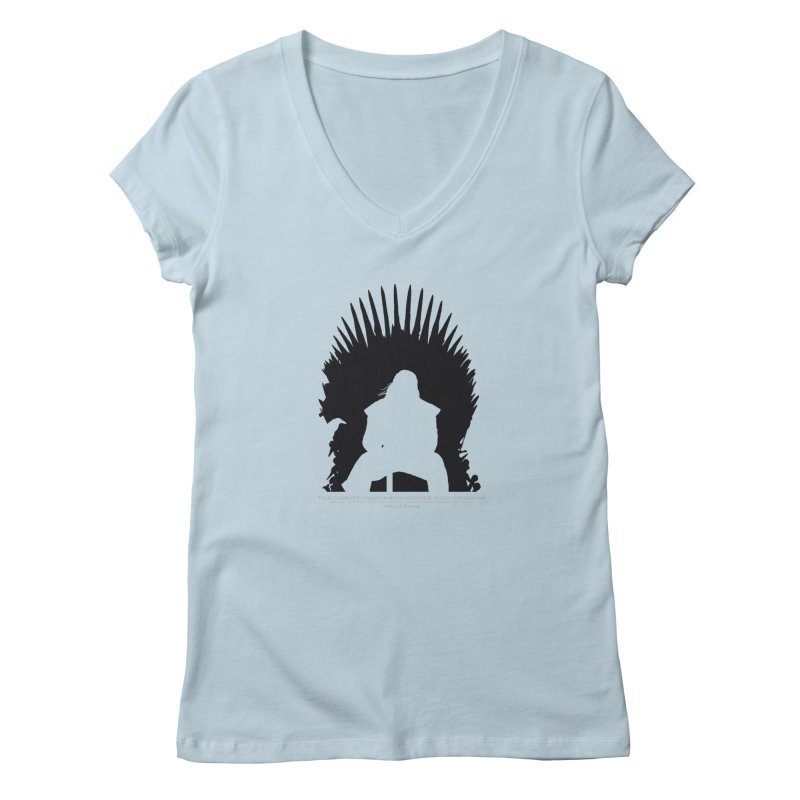 The Iron Throne Women's V-Neck by Donal Mangan's Artist Shop