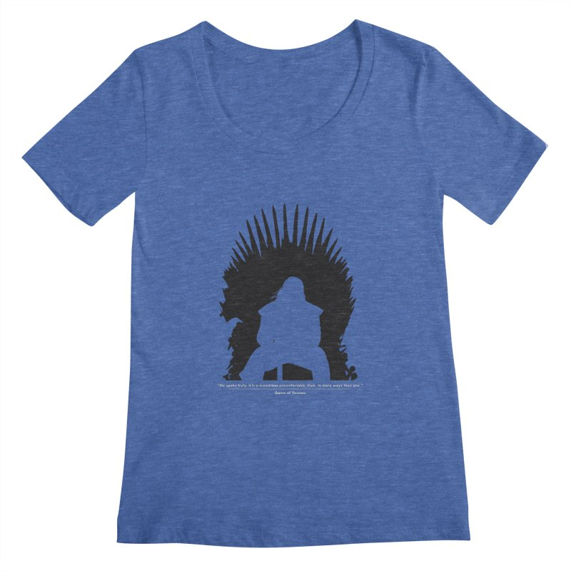 The Iron Throne Women's Regular Scoop Neck by Donal Mangan's Artist Shop