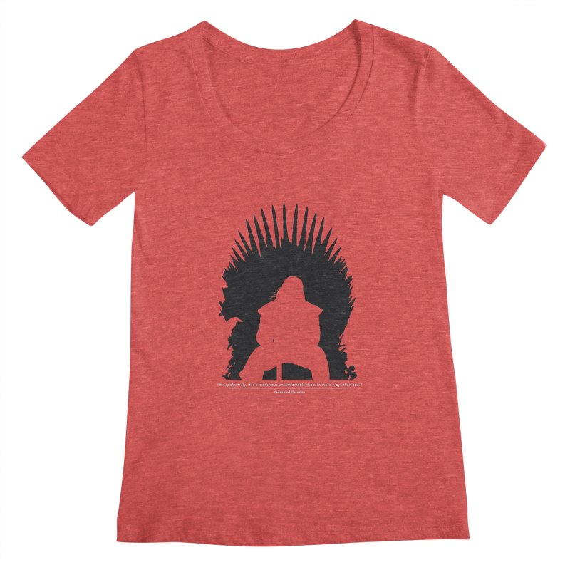 The Iron Throne Women's Scoopneck by Donal Mangan's Artist Shop