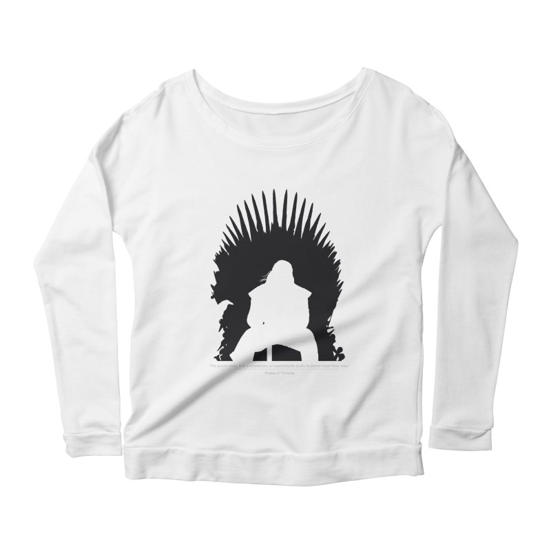 The Iron Throne Women's Longsleeve Scoopneck  by Donal Mangan's Artist Shop