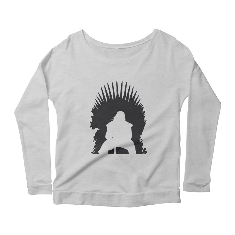 The Iron Throne Women's Scoop Neck Longsleeve T-Shirt by Donal Mangan's Artist Shop