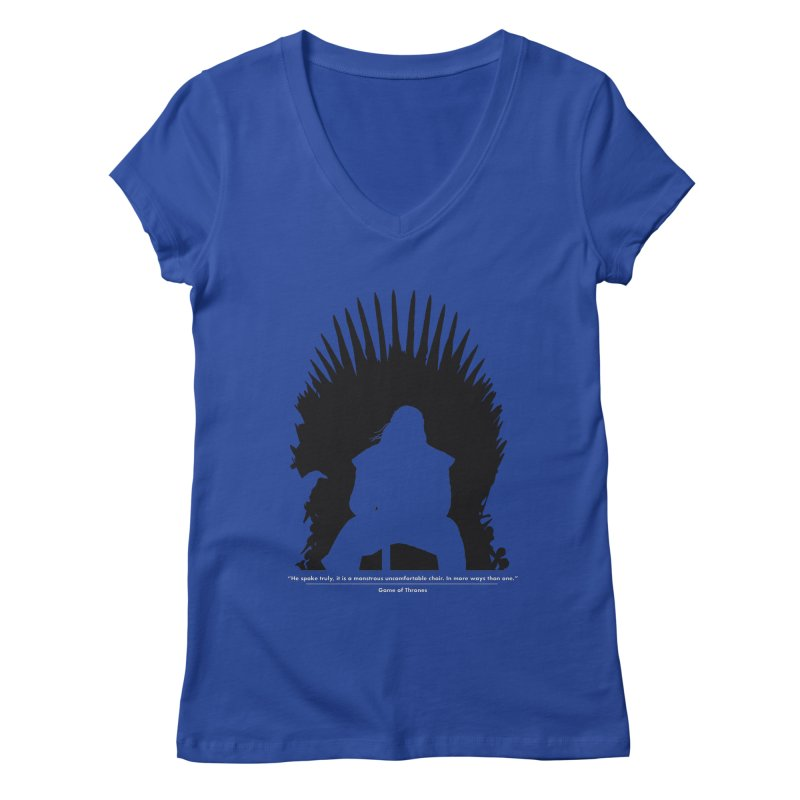 The Iron Throne Women's Regular V-Neck by Donal Mangan's Artist Shop